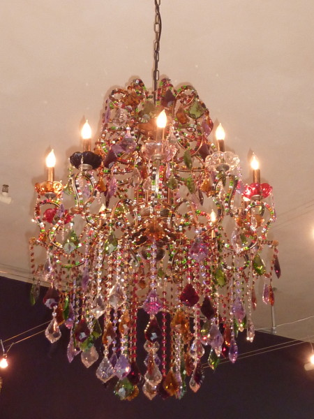 The beautiful chandelier