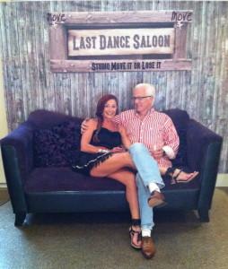 Debra & Lyman on sofa